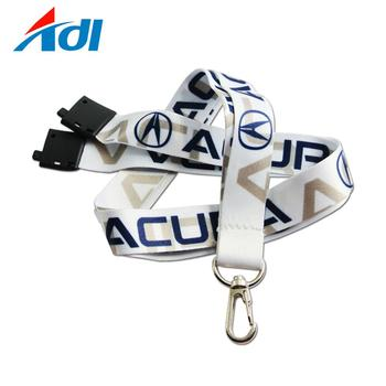 Hot selling custom 3/4 inch Id Card Holder Key Neck Strap lanyard with lobster claw