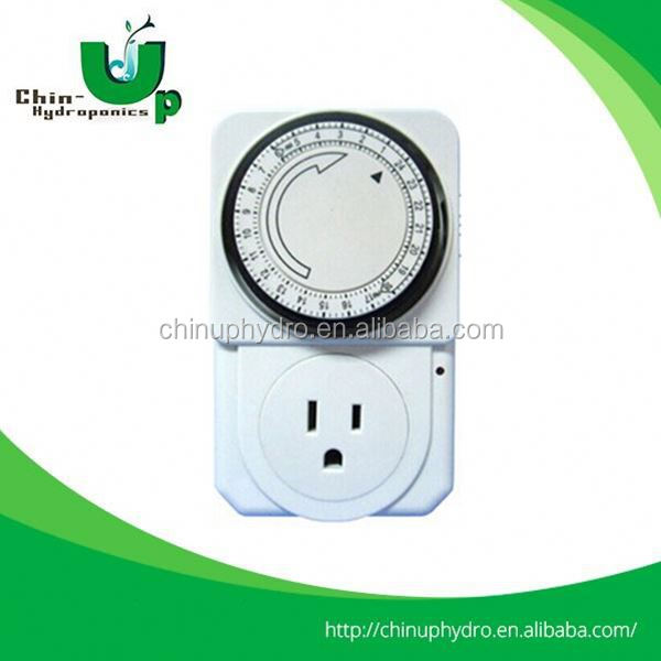 Hydroponics Timer 24 Hours Mechanical Timer for Hydroponics 400w full hydroponic grow kit
