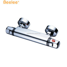 Beelee BL0202 OEM chrome suface brass mixer Thermostatic Mixing Valve Automatic Water Temperature Control Faucets For Shower