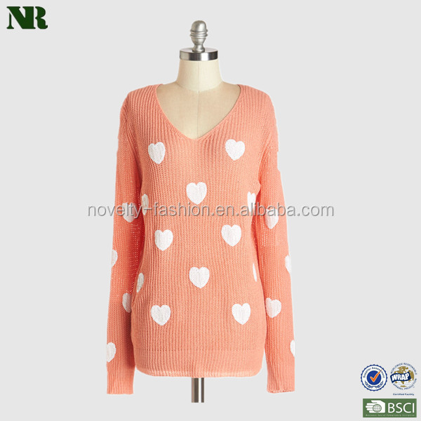 Cotton Sequin Knit Pullover Sweater Pattern ladies sweater soft and comfortable sweater