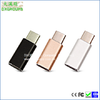 Aluminum Alloy Tipo C Connector USB 3.1 to Micro USB V8 Adapter Converter For New MaC For Cell Phones, Tablet