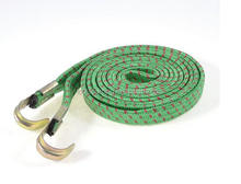 Elastic Flat Bungee Cord Luggage Rope Green Red for Bicycle Bike 1.9m
