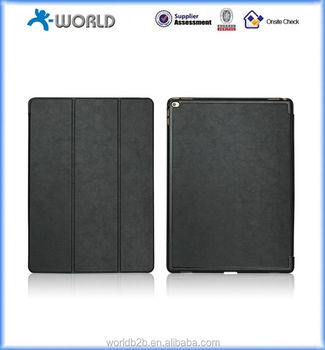 Tri-folding Smart Leather Case Stand Magnetic Protector Cover for Ipad Pro 12.9""