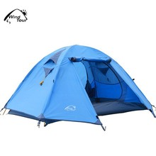 2 Person Camping Tent Double-layer Waterproof Tent Outdoor 4 seasons Tent
