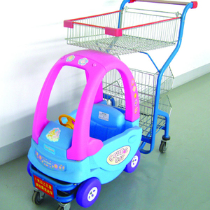 kids plastic shopping trolley with car toy