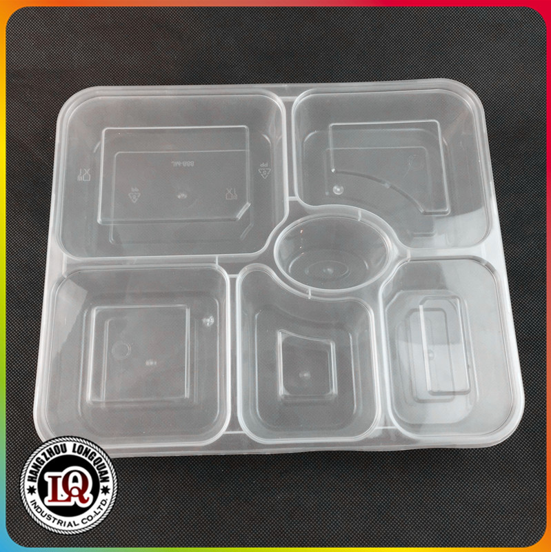 Plastic food tray wholesale with dividers