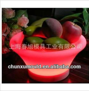 Rotomolding LED light fruit dish/basin/bowl,made of PE,OEM service