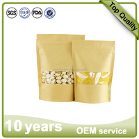 Moisture proof 1kg flour wheat whey doypack packaging paper bag with zipper tear notch
