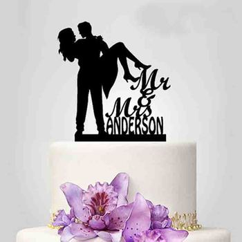 Customized wedding couple design acrylic cake topper for decotaion