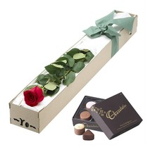 wholesale red cardboard long stem roses box