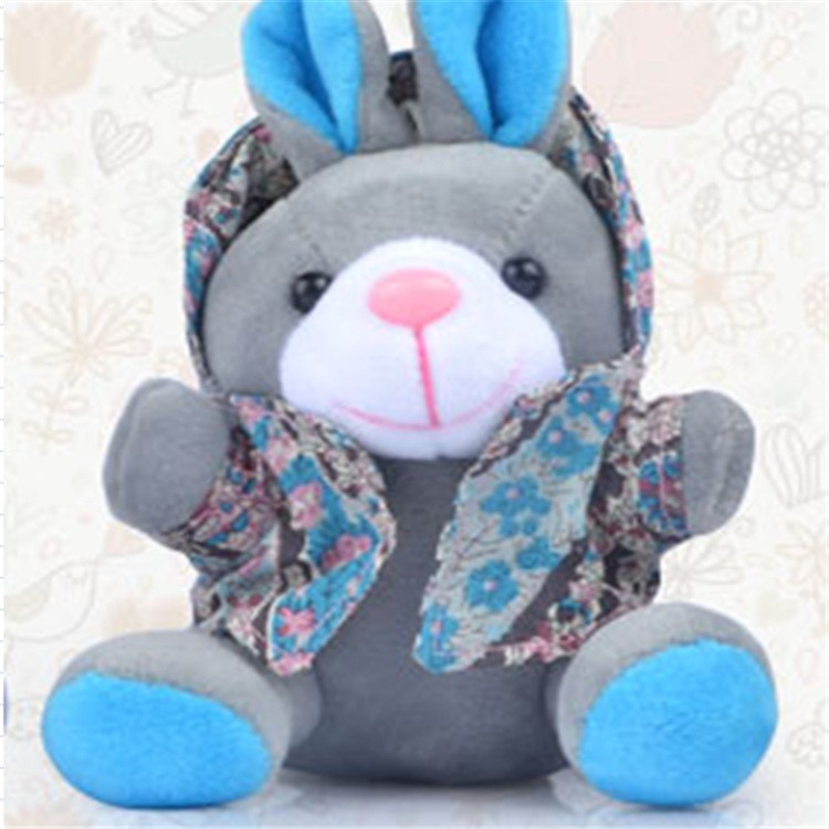 2016 hottest plush toy power bank with keychain