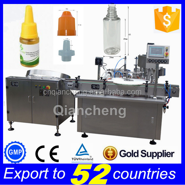 Discount NOW PLC controlled Automatic 10ml small plastic bottle filling and capping machine
