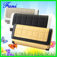New arrival and high quality PU leather purse for coins with card slots and contrast color design