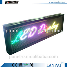 Tri -color P10 outdoor LED moving sign ,led scrolling bar sign,Programme led messag board (Direct Manufacturer)