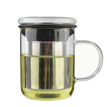 Wholesale LFGB 350ml Professional Heat Resistant Borosilicate Glass Tea Cup With Filter