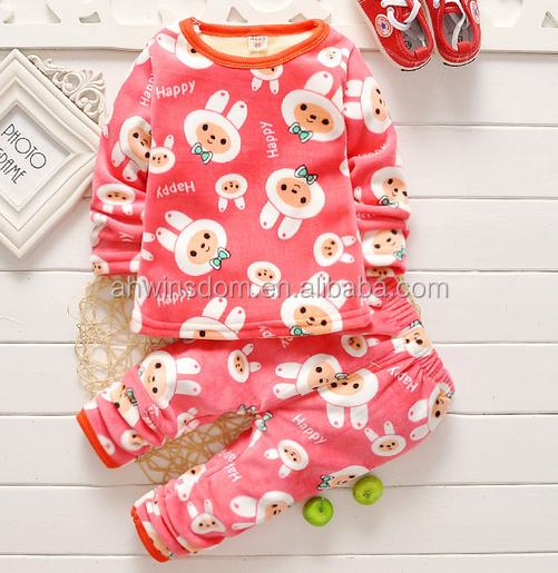 d60585h children autumn winter thickness warm underwear suits