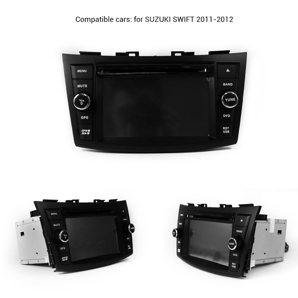 quad core 1024*600 screen Android 4.4 car dvd gps player for Suzuki swift 2011 2012 with 1.6g CPU 3g wifi Audio Video Player DVR