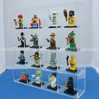 Desktop Acrylic Lego Wall Display Case, Plexiglass Doll Mini figtures Wall Display Holders