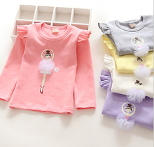 d47494a 2016 new design kids wear baby girl fancy clothes long sleeve children's t-shirts