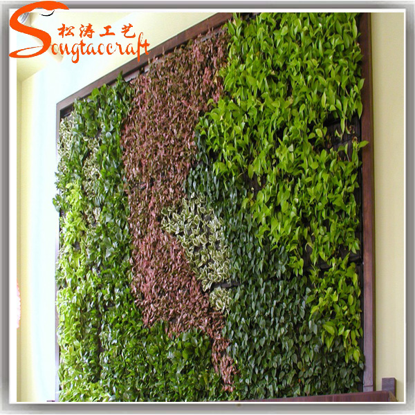 Vertical plant artificial walls plastic green wall garden for sale