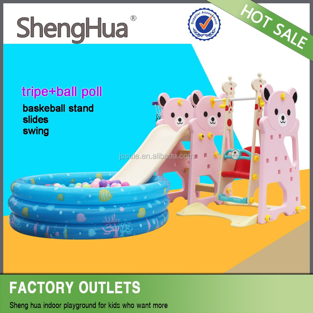 China supplier good quality baby toys swing and slide set with ISO 9001 certificate