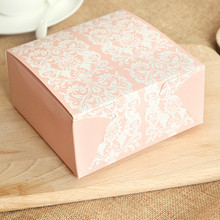 Vintage Floral Pattern Paper Box 11.4*11.4*5cm 50pcs/lot Paperboard Baking Packaging Box Paper Box Gift Package Favors