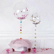Wholesale Rose Gold Wedding Birthday Party Supplies Giant Transparent Latex Stuffing Confetti Ballons Balloons