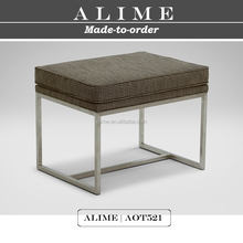 Alime AOT521stainless steel bedroom furniture cube ottomans