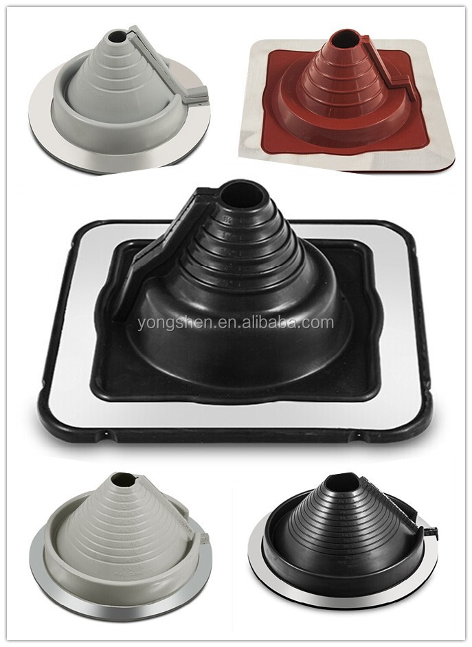 EPDM or Silicone rubber roof flashings for chimney or pipe