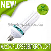 200w 6U CFL Fluorescent grow light lamp for Hydroponics