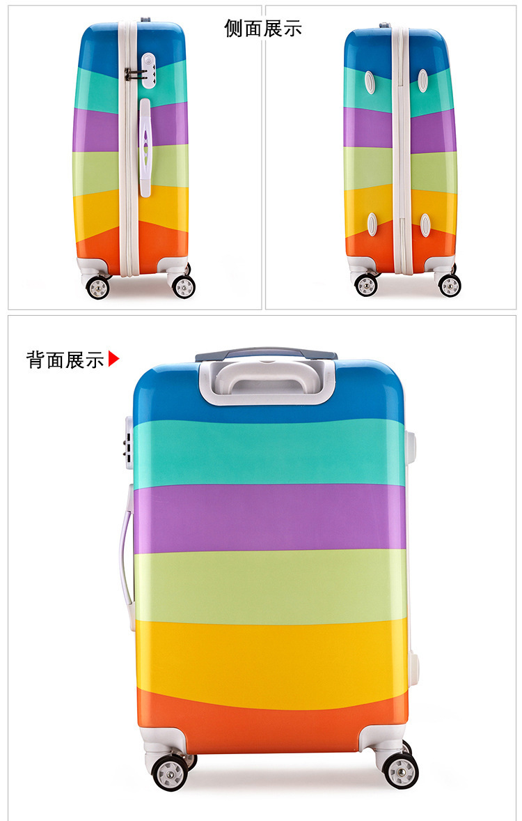 Cartoon Travel Rolling Luggage Spinner Wheels Kids Suitcase Carry On 20 24 Inch Business Airplane Trolley Luggage (22)