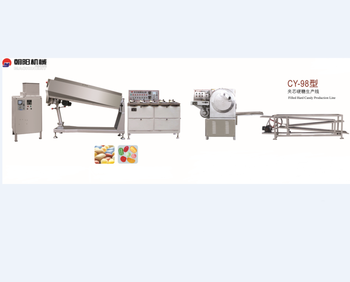 Filled Hard Candy Production Line/automatic candy forming line/hot sale different flavors candy making machine