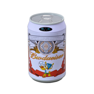Eco-friendly 9L home budweiser can electric automatic waste dust bin