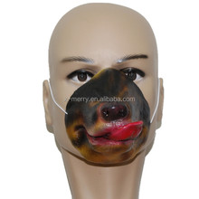X-MERRY 100% Latex rubber half face and full face masquerade mask akita dog and huskies for halloween party