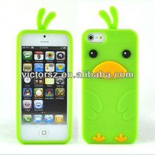 Green Chick Chicken Bird Soft Silicone Gel Skin Cover Carry Case for iPhone 5