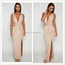 2017 Party Night Club V-Neck Ladies Long Hot Sexy Dress