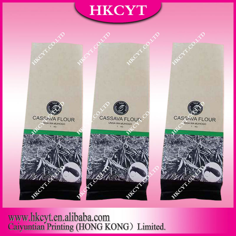 Paper coffee bag/kraft paper bag with ziplock/Laminated foil paper food packaging bag