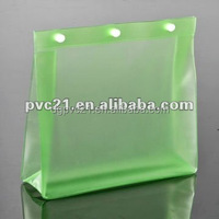 PVC travel toiletry Cosmetic bag with button for packaging
