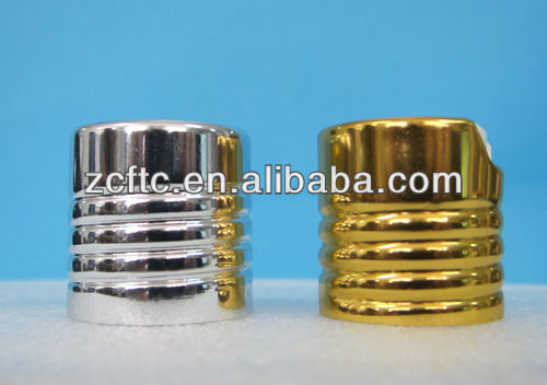 screw shape aluminum disc cap,shampoo bottle cap