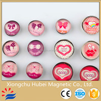 Wholesale factory fashionable customized glass fridge magnet button