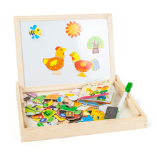 CE and EN71 wood jigsaw puzzles with whiteboard