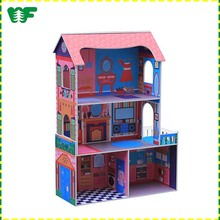 New low MOQ children toy mini wooden kids doll house