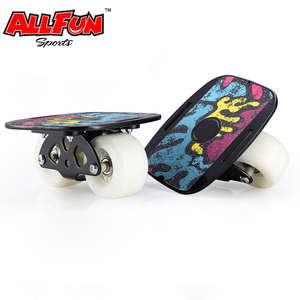 Allfun Roller Road Drift Skate Plates with Cool Maple Deck