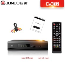 JUNUO best selling products free tv channel receiver hd mpeg4 dvb t2 h.265 dvb