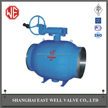 Strict control fully welded ball valve