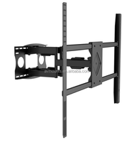 A1000 china golden supplier dual arm folding swivel tv holder wall mount for 55 - 90 inch lcd/led plasma tv
