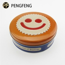 Printing customized round cookie tin box