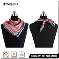 Hot Fashionable Lady silk scarf Custom Pattern Digital Printing Twill Silk Scarf