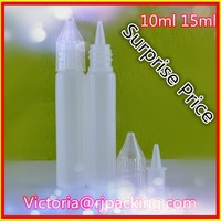child resistant eye drop bottles , 15 ml ldpe e liquid bottles with pen shape