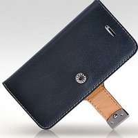 for iphone 5 original cases leather wallet cover with belt clip